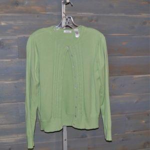 Liz Claiborne Long Sleeve Cardigan Sweater XL
